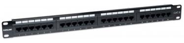Intellinet Patch Panel 19'' UTP CAT 6 RJ45 x 24 Black