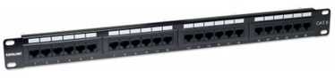 Intellinet Patch Panel 19'' UTP CAT 6 RJ45 x 24 Black