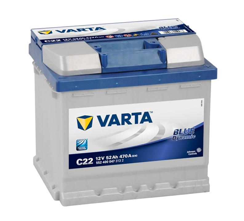 Аккумулятор Varta BD C22, 12 В, 52 Ач, 470 а