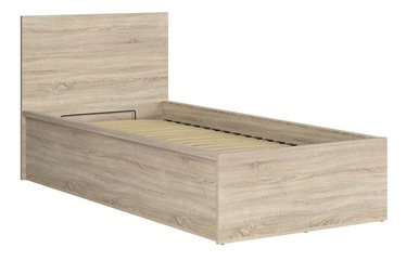Black Red White Tetrix Bed B 90x200cm Sonoma Oak