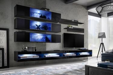 ASM Fly U3 Living Room Wall Unit Set Black