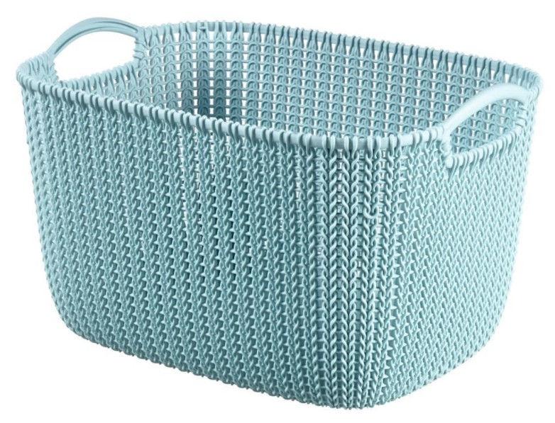 Curver Knit L Rectangular Basket Blue