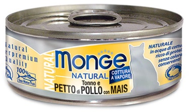 Monge Natural Tuna With Chicken & Corn 80g