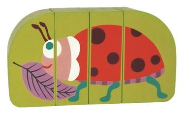 Klucīši Oops Wooden Magnetic Puzzle Ladybug 16007.33