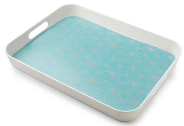 Mondex Decorative Bamboo Tray Blue