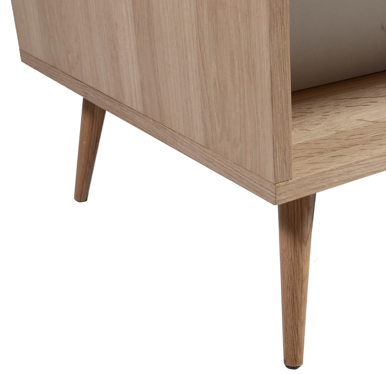 Kafijas galdiņš Home4you Helena, brūna/balta, 1200x600x400 mm