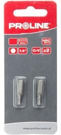 Proline HEX 4x25mm Bits 1/4'' 2pcs