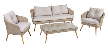 Home4you Norway Garden Furniture Set Beige