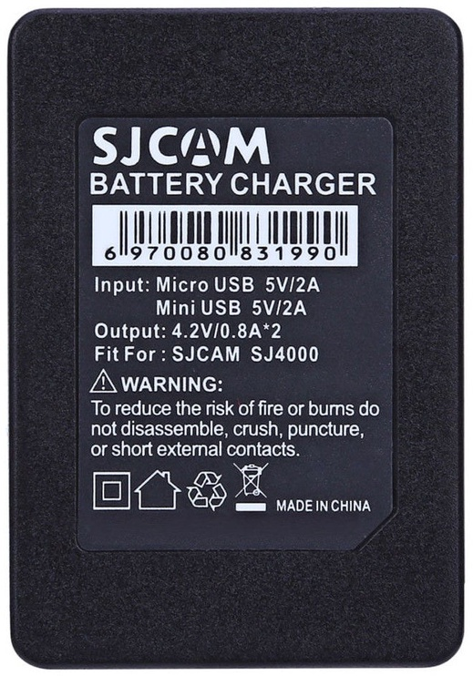 SJCam Original SJ4000 SJ5000 M10 Dual Slot Battery Charger