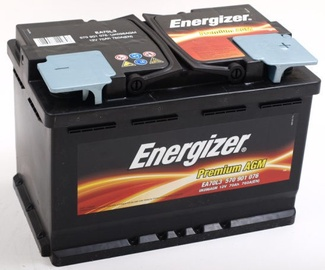 Akumuliatorius Energizer Premium AGM, 12 V, 70 Ah, 760 A