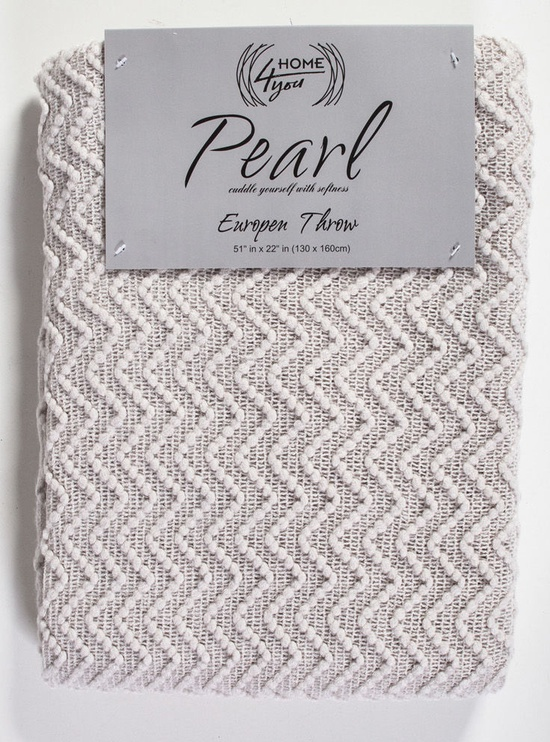 Home4you Pearl Blanket 130x160cm Light Gray