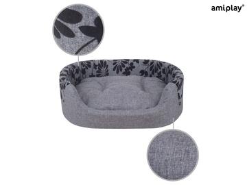 Кровать для животных Amiplay Euphoria, черный/серый, 450x540 мм