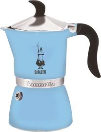 Bialetti Fiammetta Stovetop Espresso Maker 3 Cups Blue