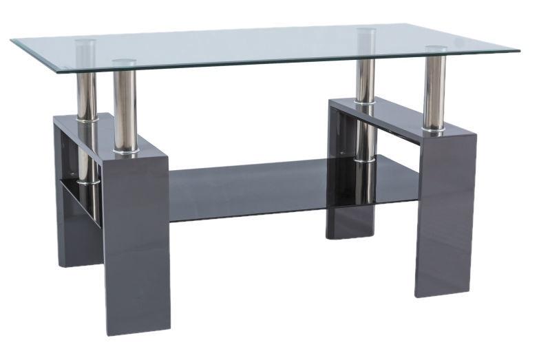 Kafijas galdiņš Signal Meble Lisa III Grey, 1100x600x600 mm