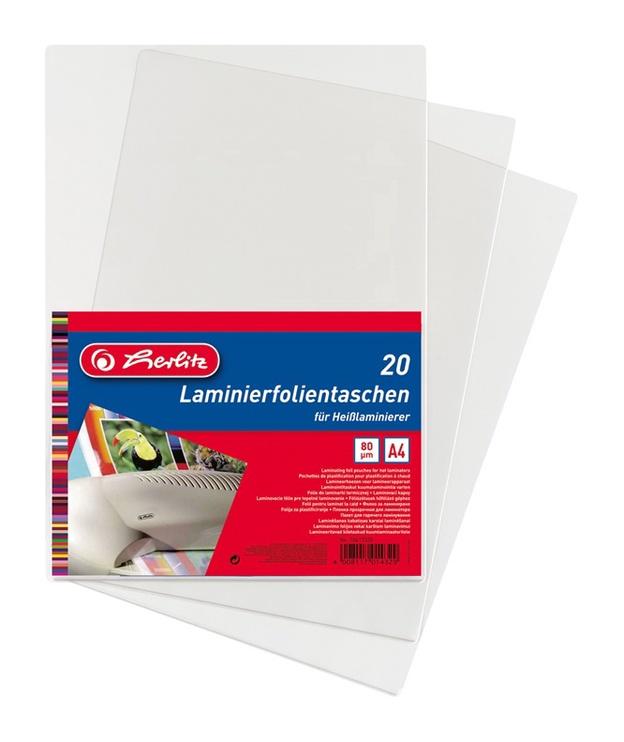 Herlitz Laminating Foil Pouches A4 20pcs