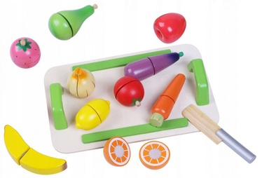 EcoToys Wooden Fruit and Vegetable Set