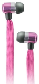 Ausinės Forever Swing Sport & Fitness Shoelace In-Ear Earphones w/Mic Pink