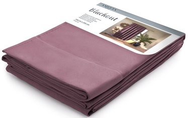 AmeliaHome Pleat Blackout Curtains Mauve 140x245cm
