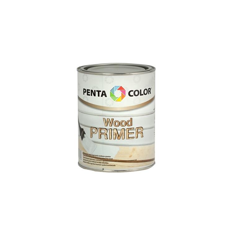 Gruntas Pentacolor Wood Primer, balta, 1 l
