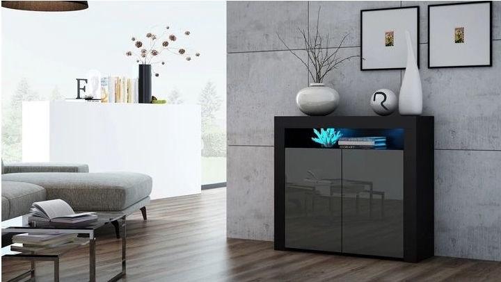 Pro Meble Milano PKC 2D Black/Grey