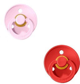Bibs Colour Round Pacifier 2pcs Strawberry/Baby Pink 0-6m