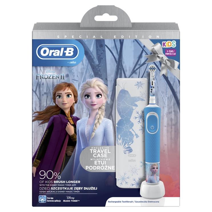 Электрическая зубная щетка Oral-B Oral-B D100 Frozen, синий/белый