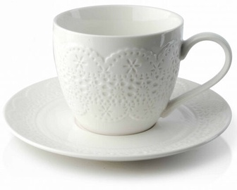 Чашка Mondex Lace Cup and Saucer 250ml White