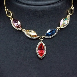 Diamond Sky Pendant Colorful Assortment With Swarovski Crystals