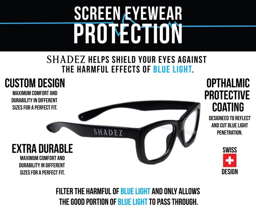 Shadez Blue Light Junior Grey