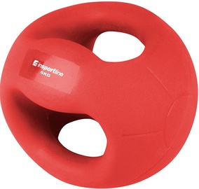 inSPORTline Grab Me Medicine Ball With Grips Red 6kg
