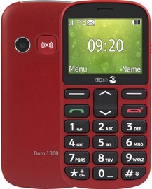 Мобильный телефон Doro 1360 Dual, красный