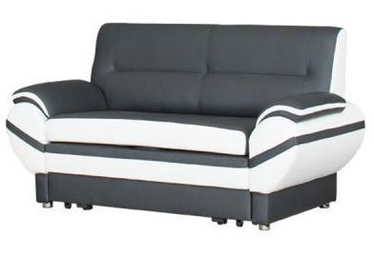 Bodzio Livonia Sofa 2 Eco Leather Dark Gray/White