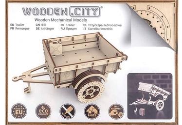 Wooden City Puzzle Trailer For 4x4 119pcs