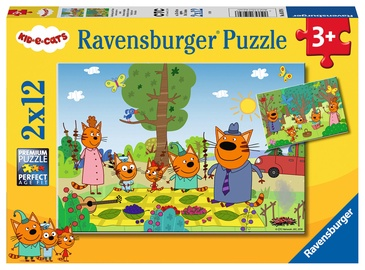 Puzle Ravensburger Kid E-Cats 05079, 2x12 gab.