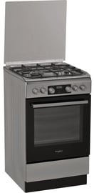 Whirlpool Gas-Electric Cooker WS5G8CHX/E Inox