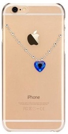 X-Fitted Blue Heart Swarovski Crystals Back Case For Apple iPhone 6/6s Gold