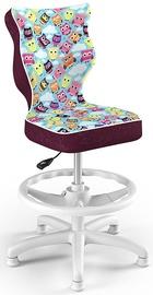 Детский стул Entelo Petit HC+F Size 3 ST32, фиолетовый/многоцветный, 300 мм x 895 мм