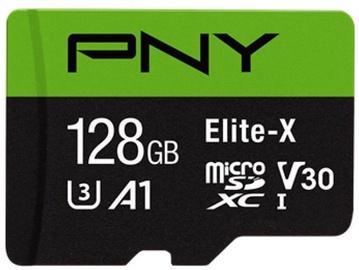 PNY Elite-X microSDXC 128GB UHS-I Class 10 U3 W/Adapter