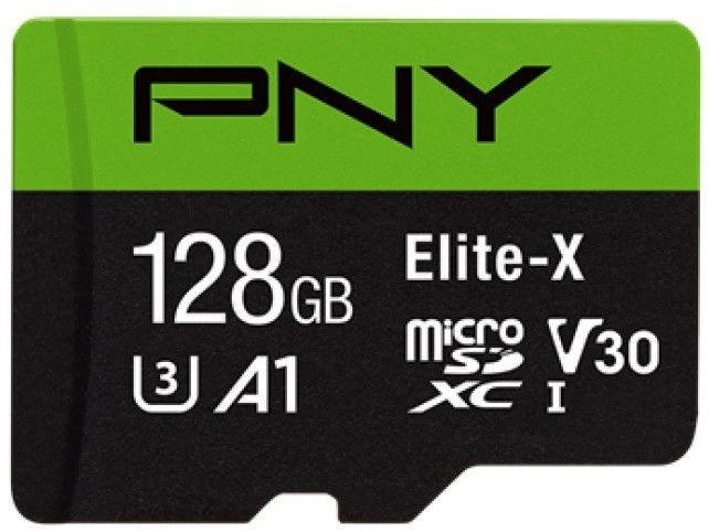 Mälukaart PNY Elite-X microSDXC 128GB UHS-I Class 10 U3 W/Adapter