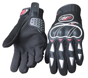 Pro-Biker MCS-22 Motorcycle Gloves Black/White L