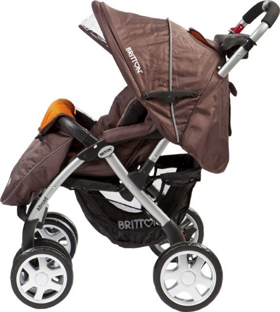 Sportinis vežimėlis Britton Allroad Brown/Orange