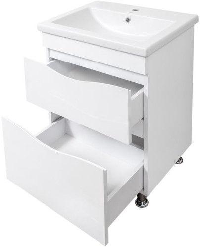 Шкаф для ванной Sanservis Smile-60 with Basin Como-60 White, 60x82x45 см