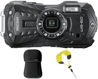 Ricoh WG-60 Black with Etui/Wrist Band