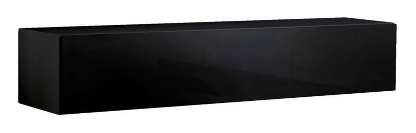 TV galds ASM RTV Fly 30, melna, 1600x400x300 mm