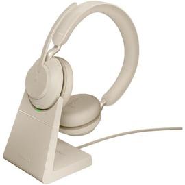Belaidės ausinės Jabra Evolve2 65 Link380a MS Stereo Beige