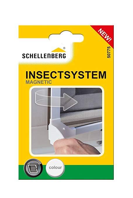 Moskītu tīkla stiprinājums Schellenberg Insectstop Magnetic 50775, balta, 153x22 mm