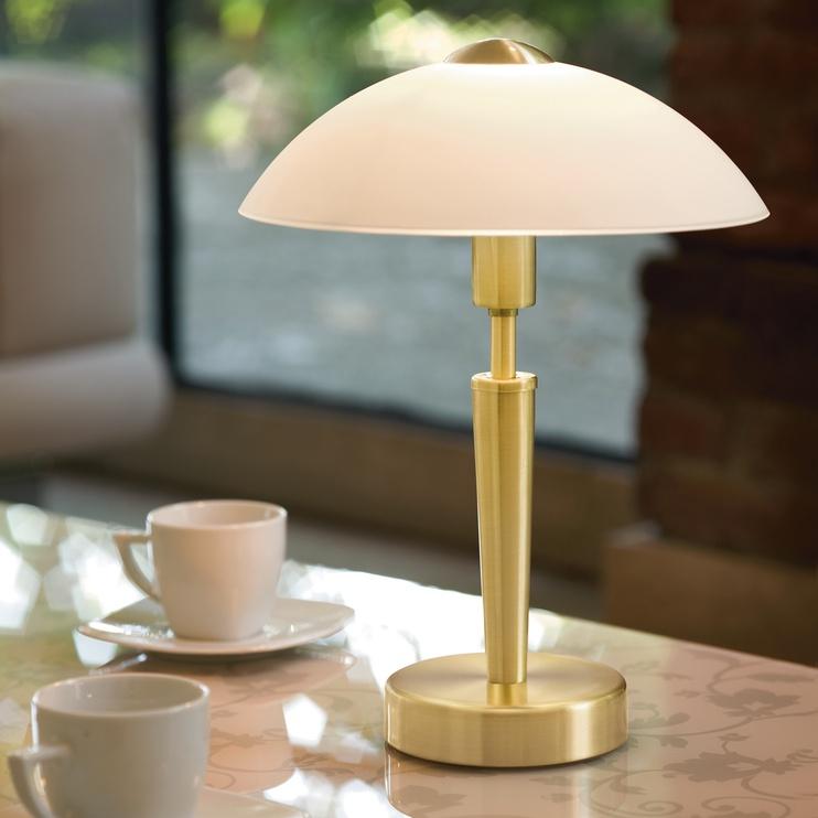 Galda lampa Eglo 87254 Solo 1 60W E14, zelta