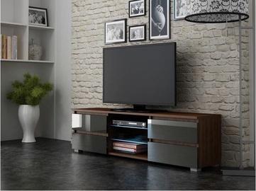 TV-laud Pro Meble Milano 150 With Light Walnut/Grey, 1500x350x420 mm