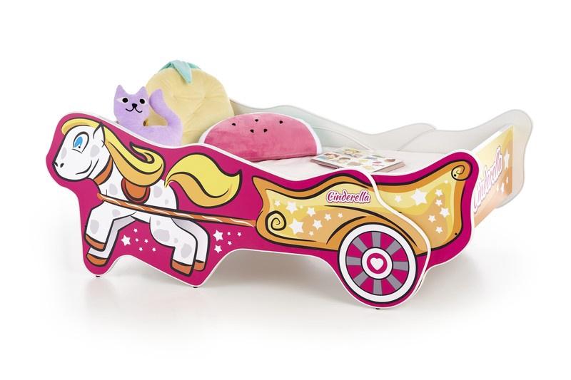 Vaikiška lova Halmar Cinderella Multicolored, 165x79 cm