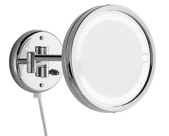 Gedy Laurent Magnifying Mirror 2x w/ Light Chrome